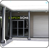 Simpson Signs new shop